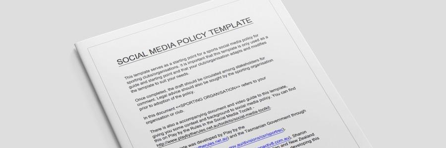 social media policies template