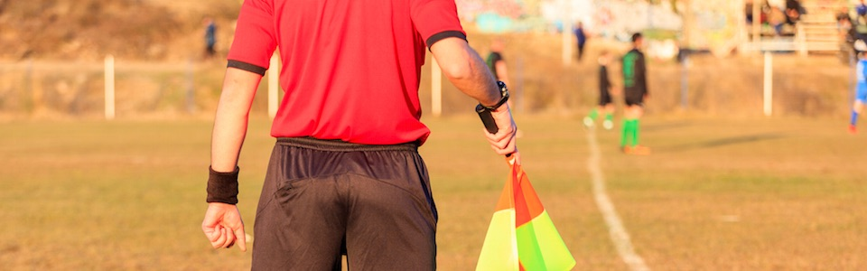 Image of linesman at soccer