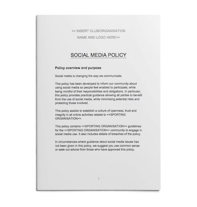 Social Media Policy template for sport - Play by the Rules ...