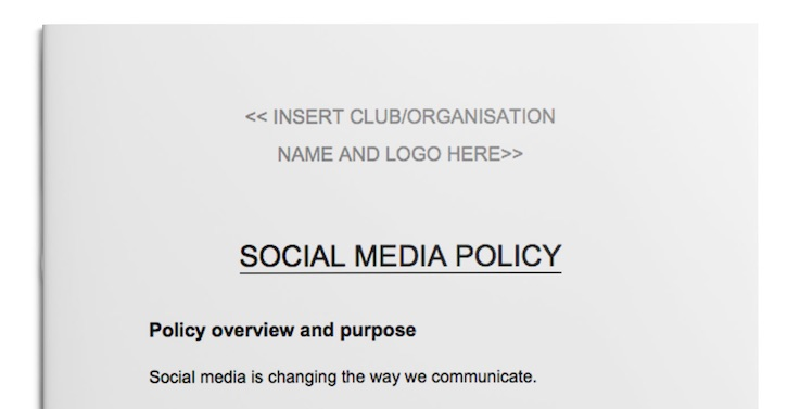 Thumbnail image of Social Media Policy template