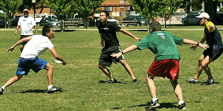 Image of people playing Frisbee