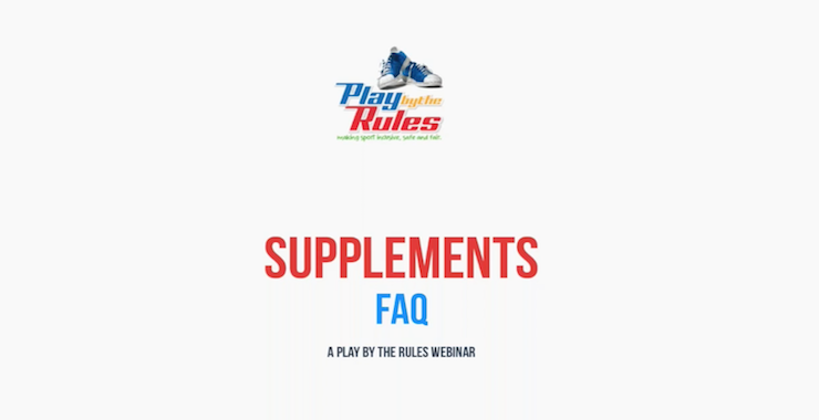 Supplements FAQ